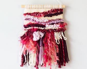Red Burgundy & Purple Mini Woven Wall Hanging | Woven Wall Hanging | Woven Wall Art | Woven Tapestry | Home Decor | Nursery Decor