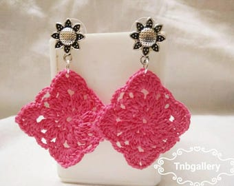 Brand new handmade crochet earring
