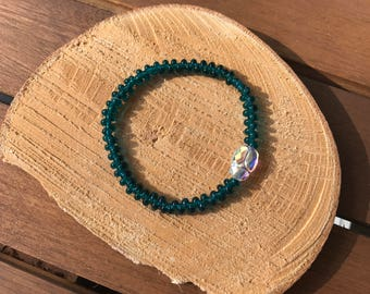 Handmade Swarovski scarab bracelet