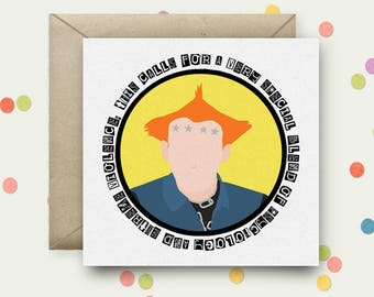 The Young Ones Square Pop Art Card & Envelope