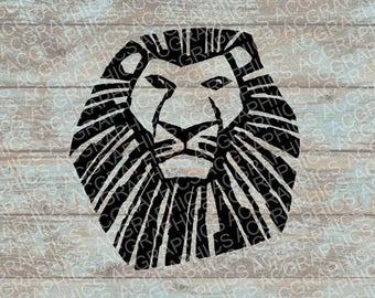 Lion King SVG, DXF, Jpeg, and Studio Downloads