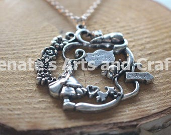 Gorgeous and mystical Alice in Wonderland necklace