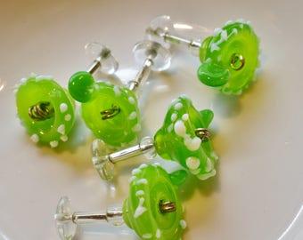 Handmade Lampwork Margarita Beads - Set of 5 beads or Charms - 22mm in length