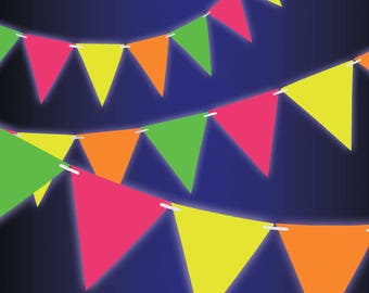 Neon party Etsy