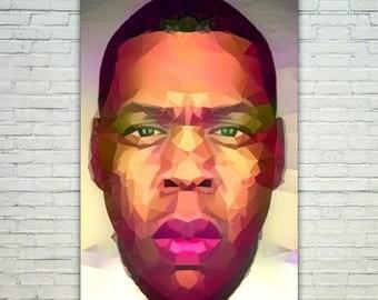 Jay Z - JayZ Poster,Jay Z West Art,Jay Z Print,Jay Z Poster,Jay Z Merch,Jay Z Wall Art,Jay Z Fan Art,Modern Abstract Pop Art Home Decor