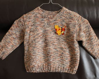Baby winnie the Pooh speckled Wool Sweater