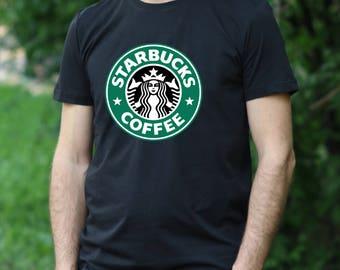 Starbucks shirt Starbucks Tee Starbucks coffee tshirt Gift Tshirt Starbucks coffee Tshirt Starbucks coffee men's T-shirt  Starbucks