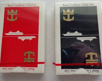 2 1970's Decks of Royal Caribbean Cruise Line Playing Cards