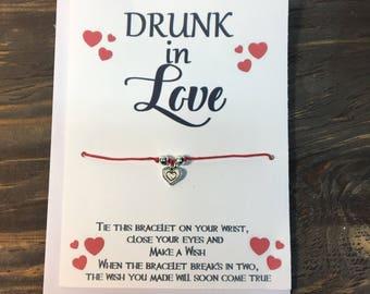 Beyoncé -drink in love wish bracelet .Heart wish bracelet .Heart charm bracelet .Beyoncé jewelry