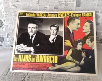 Vintage Original Lobby Card Los Hijos del Divorcio (1958)