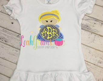 Cinderella Disney Princess Applique Shirt with FREE MONOGRAM