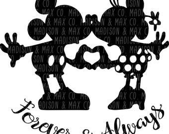 Forever Mickey SVG, Mickey SVG, SVG Files, Kids Svg, Silhouette Files, Cricut Files, png files, png