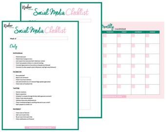 Social Media Content Planner & Checklist