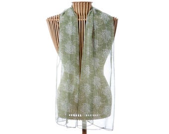 Silk Scarf,100% Silk Scarf,Floral Scarf,Rectangle Scarf,Australian Silk Scarf,Christmas Gift for Her,Grevillea Scarf,Australian Wild Flowers