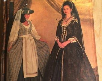 Simplicity Elizabethan costume pattern, Simplicity 7756 Pattern,  Simplicity Misses costume sewing pattern, 16-18-20