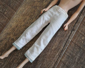 Vintage Barbie Clothes - Pink Pajama Pants