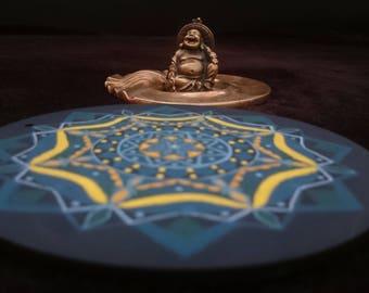 Mandala Acrylic on Wood