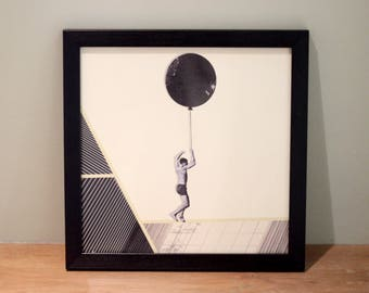 Ballooned - Digital Collage Art Print Poster