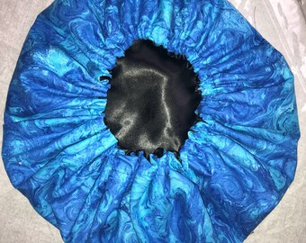Vibrant Blue Satin Lined Bonnet