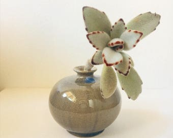 1970s Vintage Ceramic Bud Vase