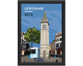 Lewisham Clock Tower SE13 - Giclée Art Print - South London Poster