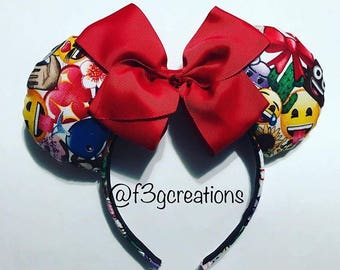 Emojis Inspired Minnie Ears! Ready to ship!!!