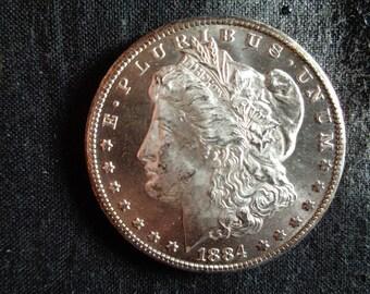 Scarce Uncirculated 1884 CC MORGAN DOLLAR