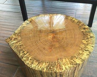 tree stump tablelive edge tablerustic wedding tree sliceoak reclaimed wood