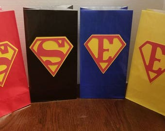 Superman 12pc goodie bags **Free Shipping**