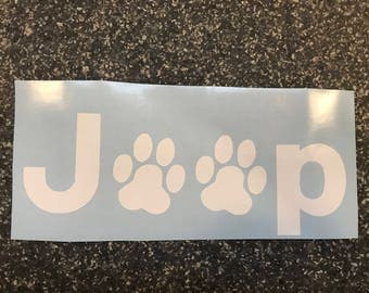 Jeep (paws) Decal