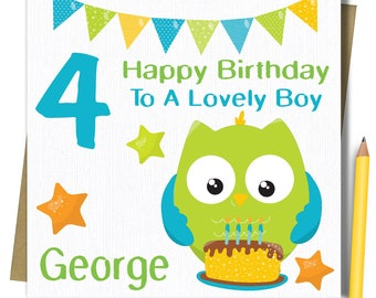 PERSONALISED Boys Birthday Card. Birthday Card For Brother Godson Son Grandson Nephew, 1st 2nd 3rd 4th 5th 6th 7th 8th 9th.... Birthday Card