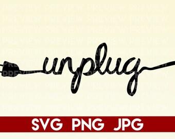 Unplug Stickers Etsy