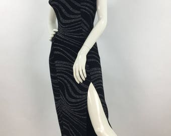Vintage prom dress/1980s evening gown/formal evening wear