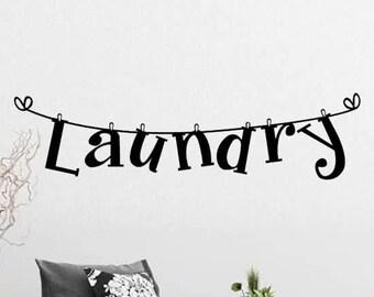 Wall sticker Laundry