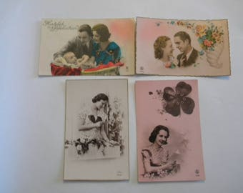 Postcards 1930's - Set of 4