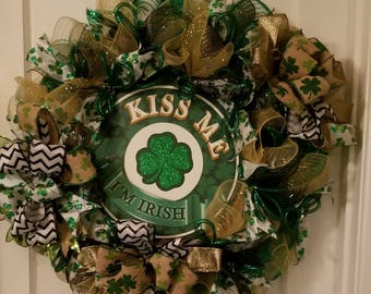 St Patrick's Day Wreath-Entry Door Wreath-