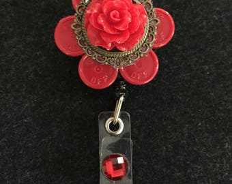 Red Rose Medicine Cap Badge Reel