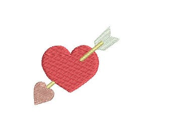 Mini Heart Arrow2 -Machine Embroidery Design