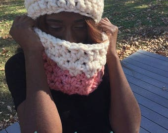 Peaches and Cream Earwarmer and Cozy Cowl