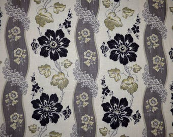 Waverly LIBERTY FLORAL Ebony Black Floral Home Decor Drapery Upholstery Sewing Fabric By the Yard BTY