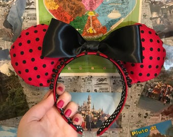 Red and Black Polka Dot Minnie Ears