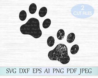 Paw SVG, Paw Svg file, Paw print svg, Dog Paw Silhouette, Paw clipart, Dog Paw cricut svg, Paw vector, Dog paw cut file, Paw print vector