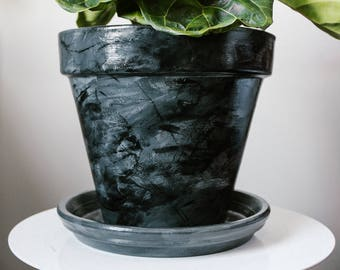 Hand-Painted Indoor Plant Pot (Large)