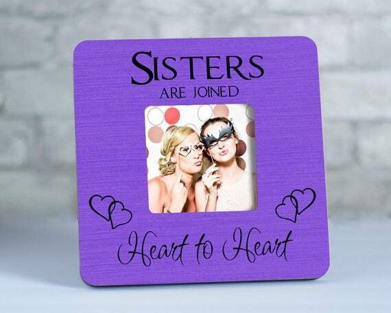 Sister Frame, Sister by Heart, Sisters Frame, Gift for Sister ...