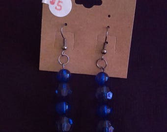 Blue magic earrings