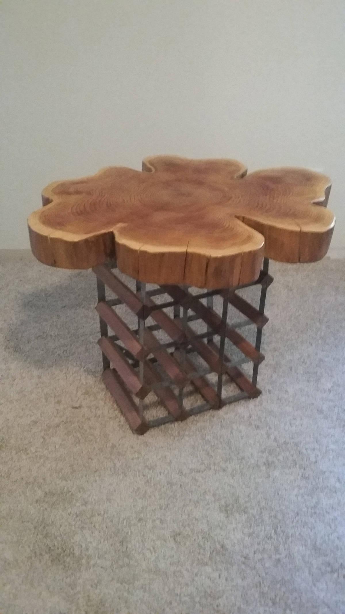 Western red cedar table top western red cedar live edge table top - Unique Live Edge Western Red Cedar Slab Table Wine Rack