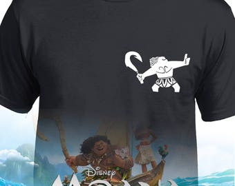 Moana's Mini maui TShirt Emblem Adult or Kids Sizes