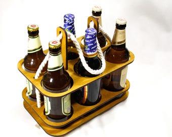 Prefabricated beer box collapsible beer box composite beer  plywood beer carrier, beer caddy, beer tote, beer holder, wood beer