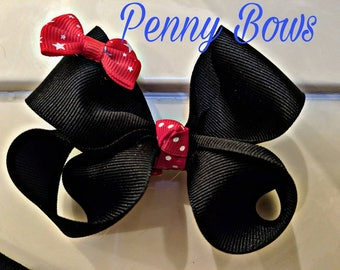 Minnie Mouse inspired Boutique Bow
