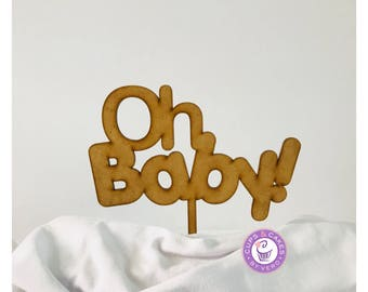 Cake Topper Oh Baby